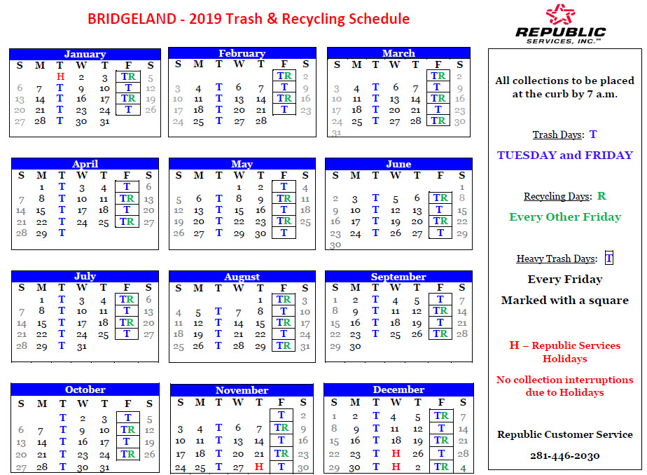 republic services holiday schedule